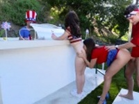 Teen gets fucked Family Fourth Of July