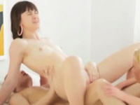 Brunette anal strapon Massage turns into powerful