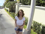 Stranded huge titty teen fucked outdoors in public