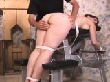 Dirty slut gets her butt red from hardcore thrashing session