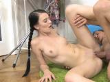 Swingeing russian darling Licie cums on camera