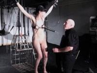 Electro bdsm and feet punishment of slave Elise