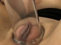 Voracious barely legal girlie is playing with dildo
