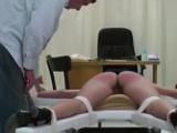 Long-Legged Babe Gets Spanked