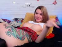 Slim ass Latina enjoys dildo masturbation on webcam