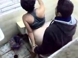 Ghetto beauty public toilet fuck Kimberely from dates25com