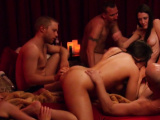 The red room gets full of horny swingers