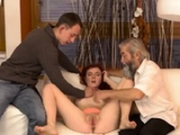Young nasty Unexpected practice with an older gentleman
