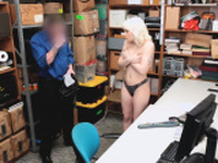 Naomi got pounded at the backroom office