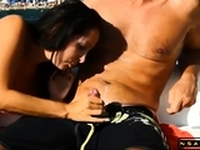 Provoking amateur milf with lovely boobs cumshot compilation