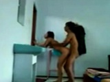 Horny Indonesian Girl Standing Raw Fucked in a Motel