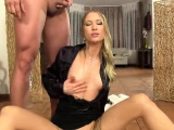 Staggered doll in lingerie is geeting pissed on and plowed