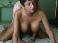 Beautiful Grandma sex in doggystyle position