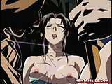 Trapped hentai getting pounded hard with a big stick