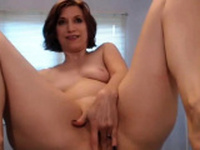 12 Inch Dildo all in Her Ass and Squirting