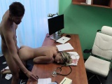 Sexy doctor banged teen gal