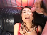 Ayano receives a huge load of cum right on her face!