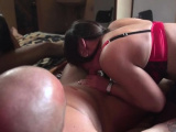 Sexy brunette Sheela with big tits gets treated good