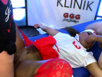 Ebony nurse mimi in gangbang actions with big dicks