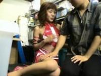 Beautiful tiny asian rides a hard weenie passionately