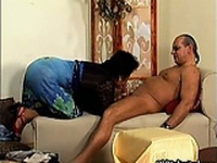 Thick mature mom with big tits sucking part3