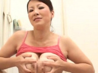 Tempting mature honey flirts and gets licked
