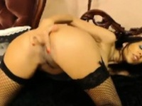 Sexy Latina With Fishnets