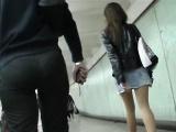 Amateur couple on real hidden cam