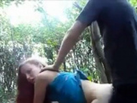 Russian amateur girl love it anal outdoor sex