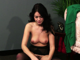 British slut with perky tits sucks cock