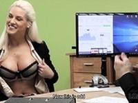 LOAN4K. Blonde goddess offers her wet slits for...