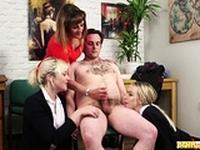 Filthy femdom handjob schoolgirls jerk dick