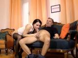 Stockings ho rides dick