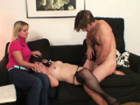 Wife watches he fucks her old redhead mother