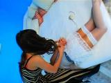 Sexy hottie dominates her villein in femdom fetish act