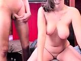 Big boobed Latina girl shows her dark nipples on webcam