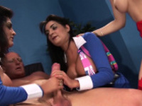 A very British group sex experience with four hot sluts