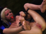 Anal licking slave Halle Von is in town on vacation with