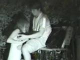 Voyeur jerking off with amateur couple loving
