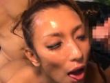 Slender japan female doc astonishing gang bang and bukkake