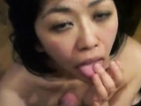Facial on his japanese milf