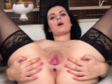 Naughty czech chick spreads her wet pussy to the stra25OHF
