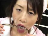 16 cumshots for cute Japanese Nurse Japanese Bukkake Orgy