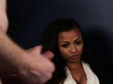 British ebony voyeur instructs jerkjob