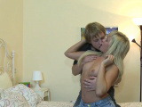 Breathtaking russian blonde chick gets pounded