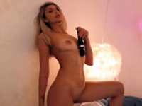 Busty Kathryn striptease and masturbation
