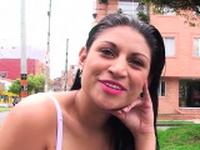 Exquisite latin brunette woman Samantha Alvarez gets nailed
