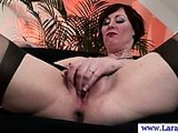 Glamorous british MILF riding cock