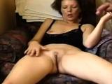 Girl masturbates and get cumshot