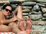 Couple fucking on the beach filmed by a voyeur